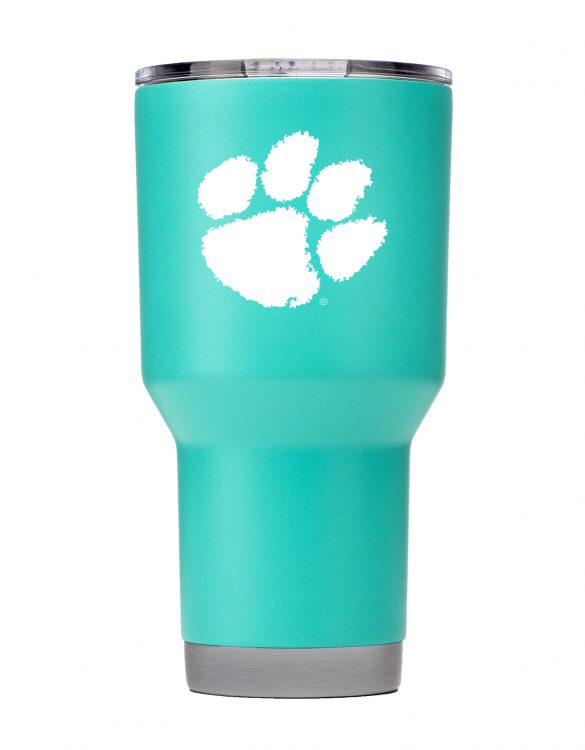 Clemson Tigers 30oz Stainless Steel Teal Powder Coat Tumbler