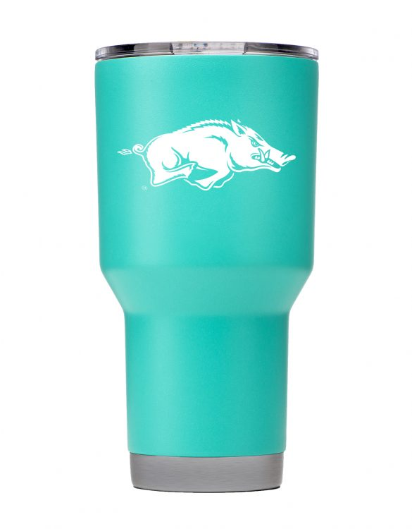 Arkansas Razorbacks 30 oz Teal Tumbler