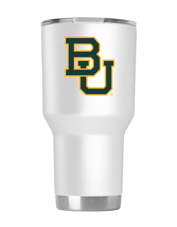 Baylor Bears 30 oz White Tumbler