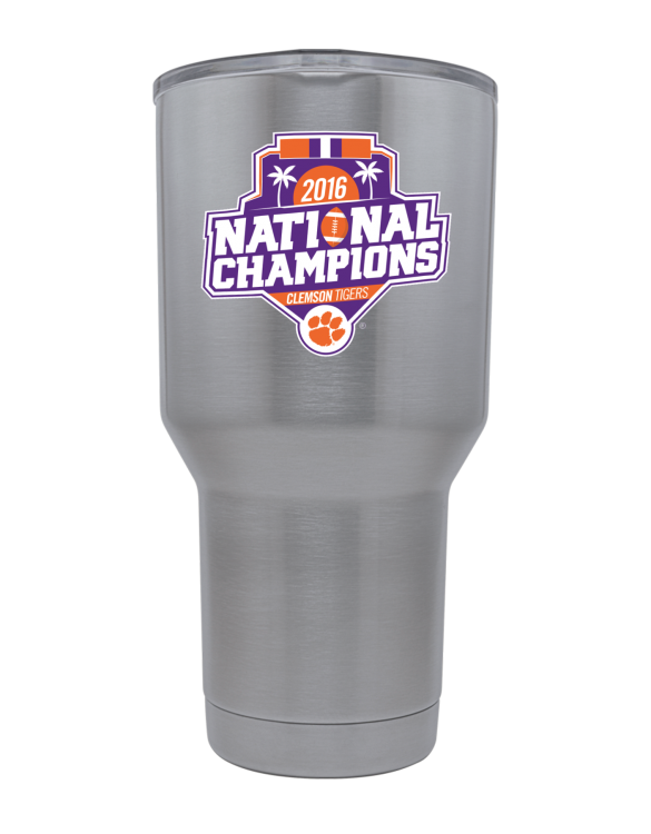 Clemson Tigers 30 oz National Champs Stainless Tumbler