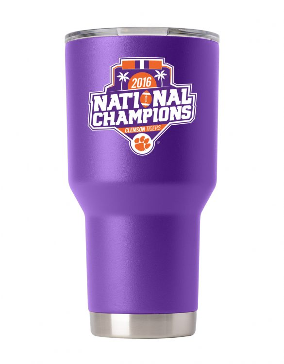 Clemson Tigers 30 oz Purple National Champs Tumbler