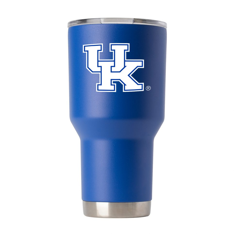 Kentucky 30oz Powder Coated Blue Tumbler