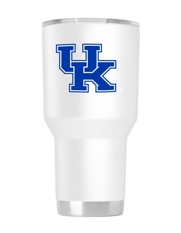 Kentucky 30oz White Powder Coated Tumbler