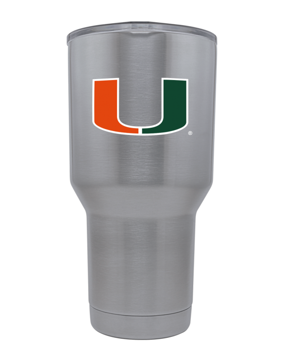 Miami Hurricanes 30 oz Stainless Steel Tumbler