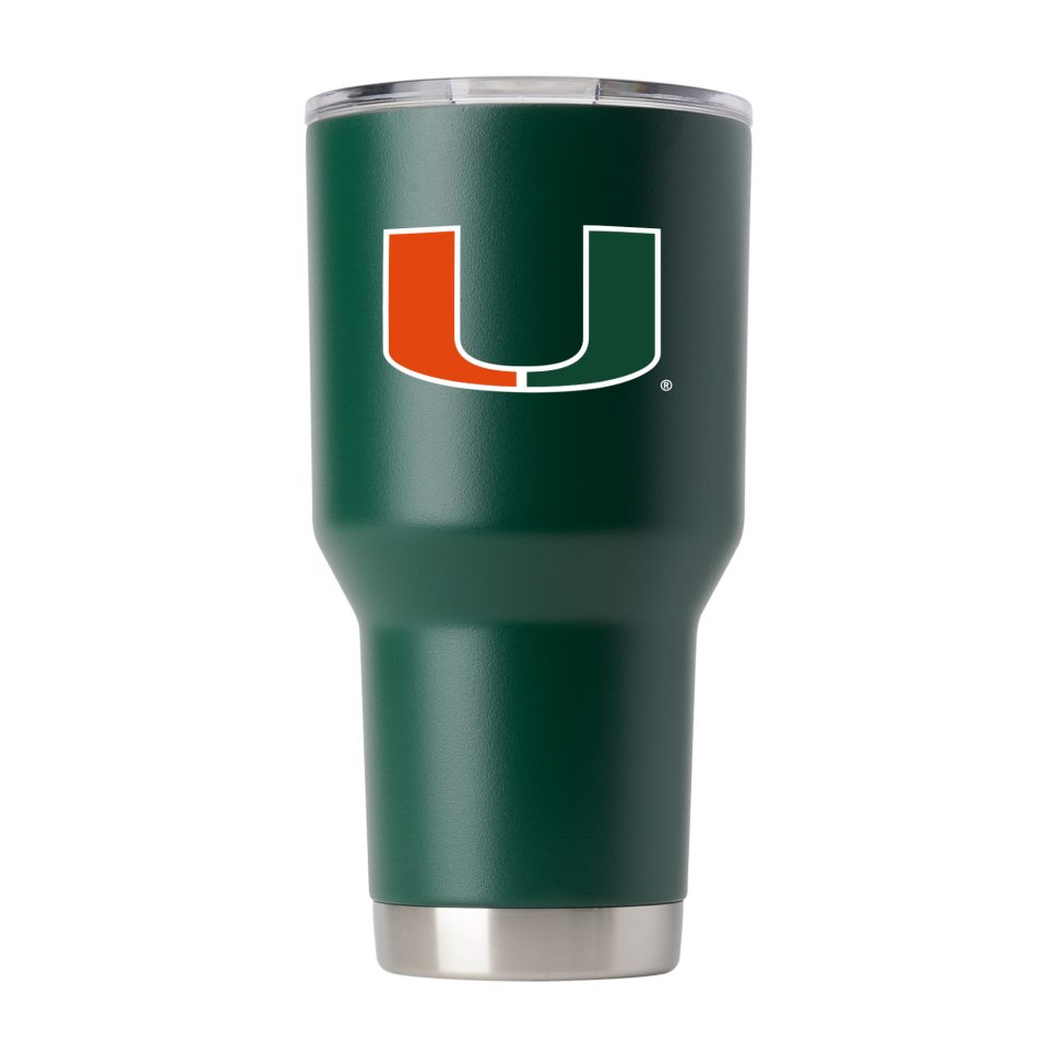 Miami Hurricanes 30 oz Green Tumbler