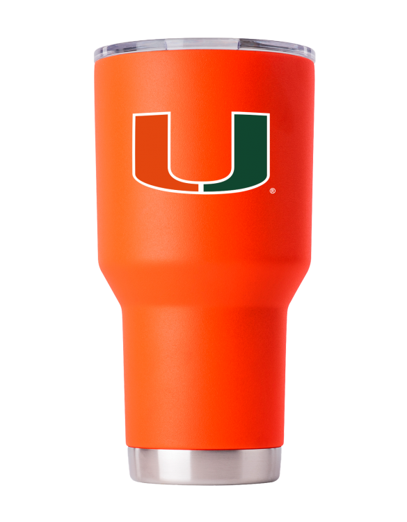 Miami Hurricanes 30 oz Orange Tumbler