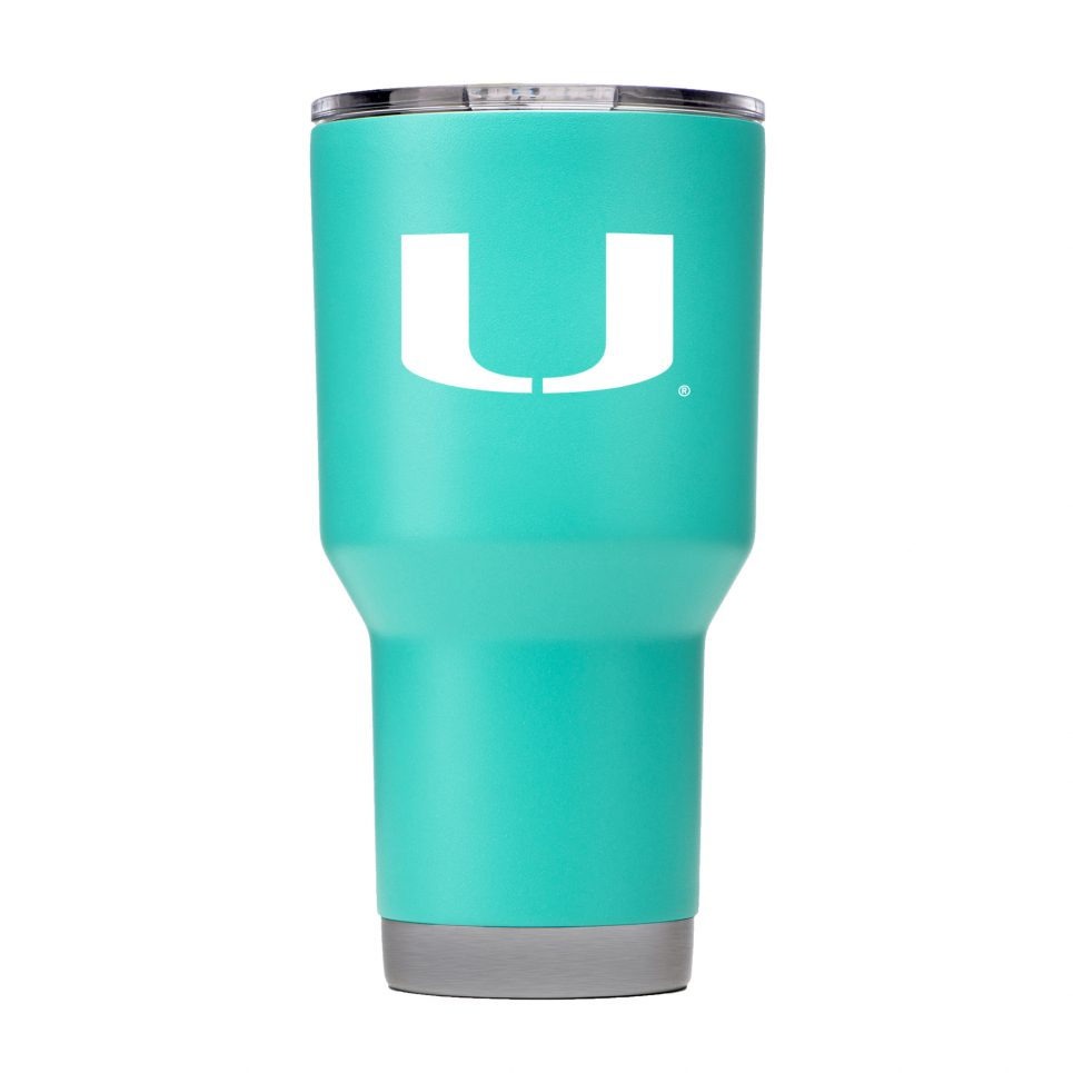 Miami Hurricanes 30 oz Teal Tumbler