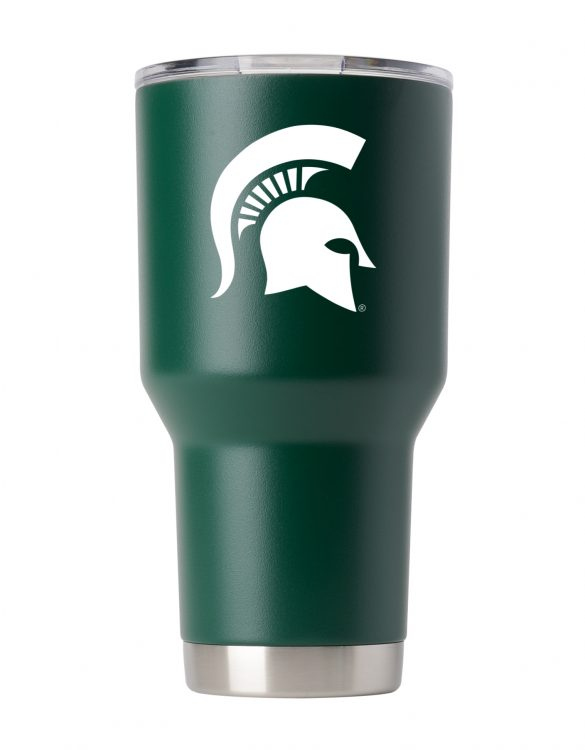 Michigan St. 30 oz Green Powder Coat Stainless Steel Tumbler