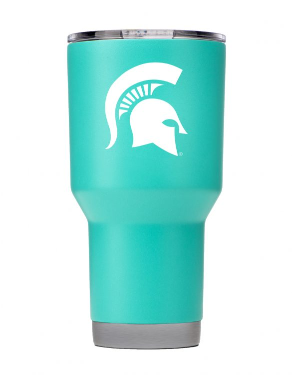 Michigan St. 30oz Teal Stainless Steel Tumbler