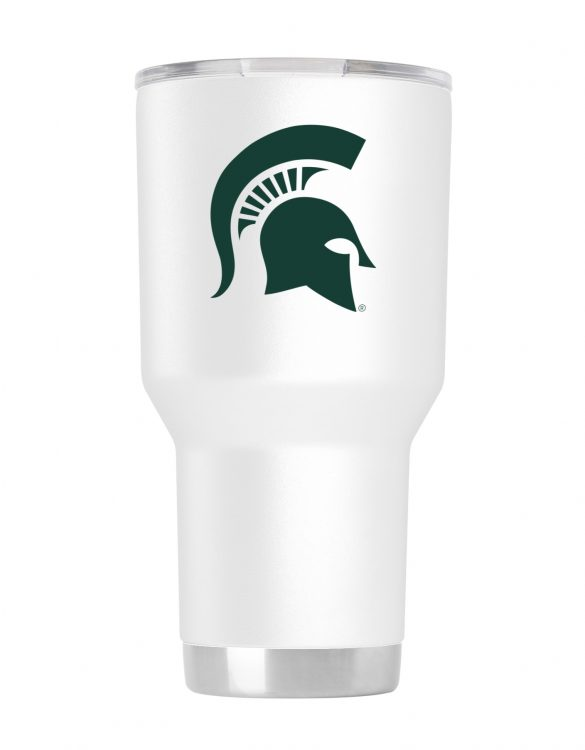 Michigan State 30 oz White Powder Coat Stainless Steel Tumbler