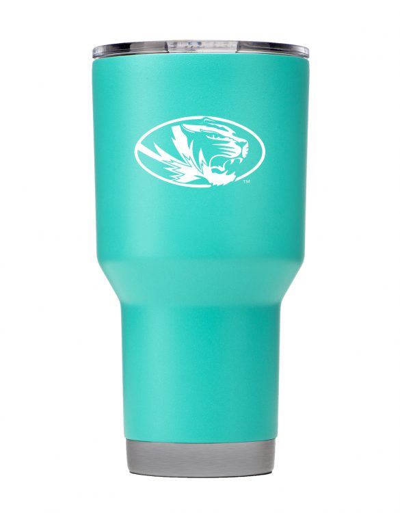 Missouri 30 oz Teal Powder Coat Stainless Steel Tumbler
