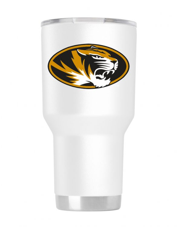Missouri 30 oz White Powder Coat Stainless Steel Tumbler