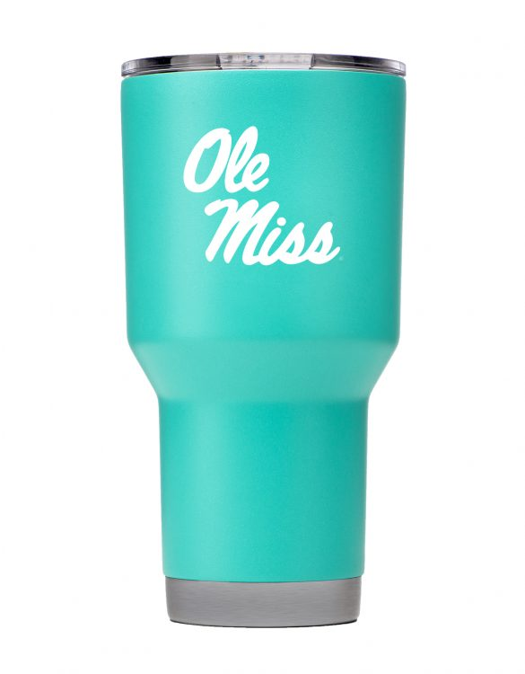 Ole Miss 30 oz Teal Stainless Steel Powder Coat Tumbler