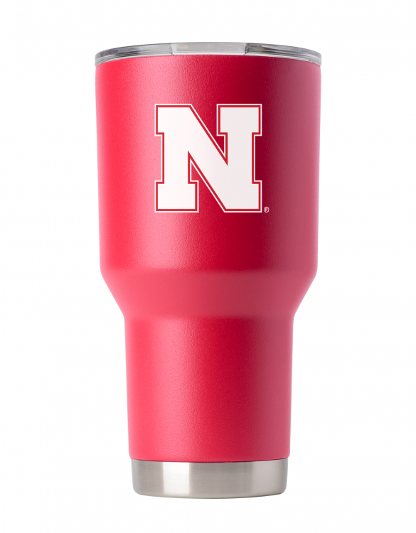 Nebraska 30oz Red Powder Coated Tumbler