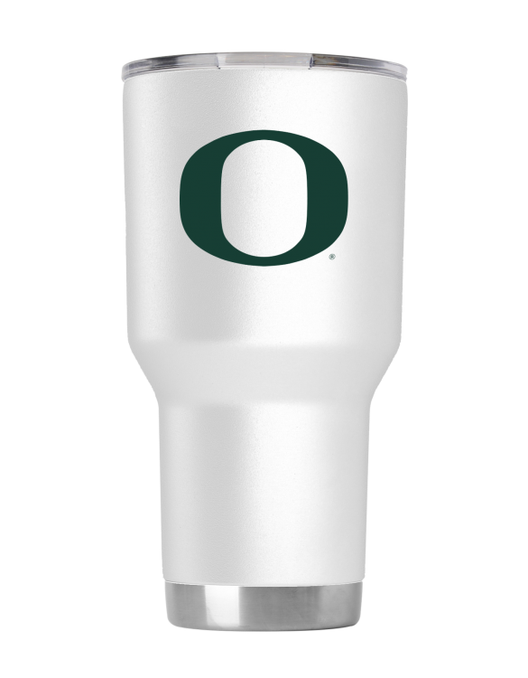 Oregon 30 oz White Powder Coat Stainless Steel Tumbler