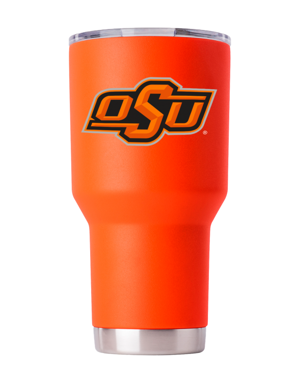 OSU 30 oz Orange Powder Coat Stainless Steel Tumbler