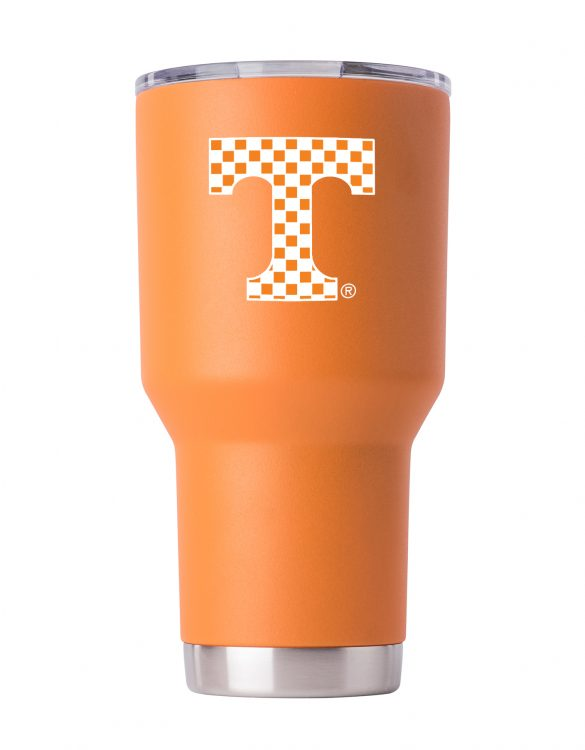 TN checker 30 oz Orange Powder Coat Stainless Steel Tumbler