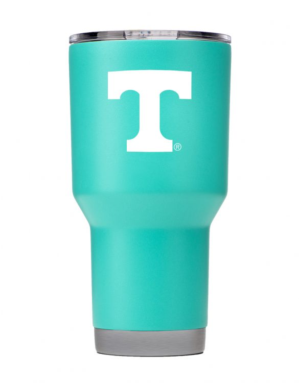 TN 30 oz Teal Powder Coat Stainless Steel Tumbler