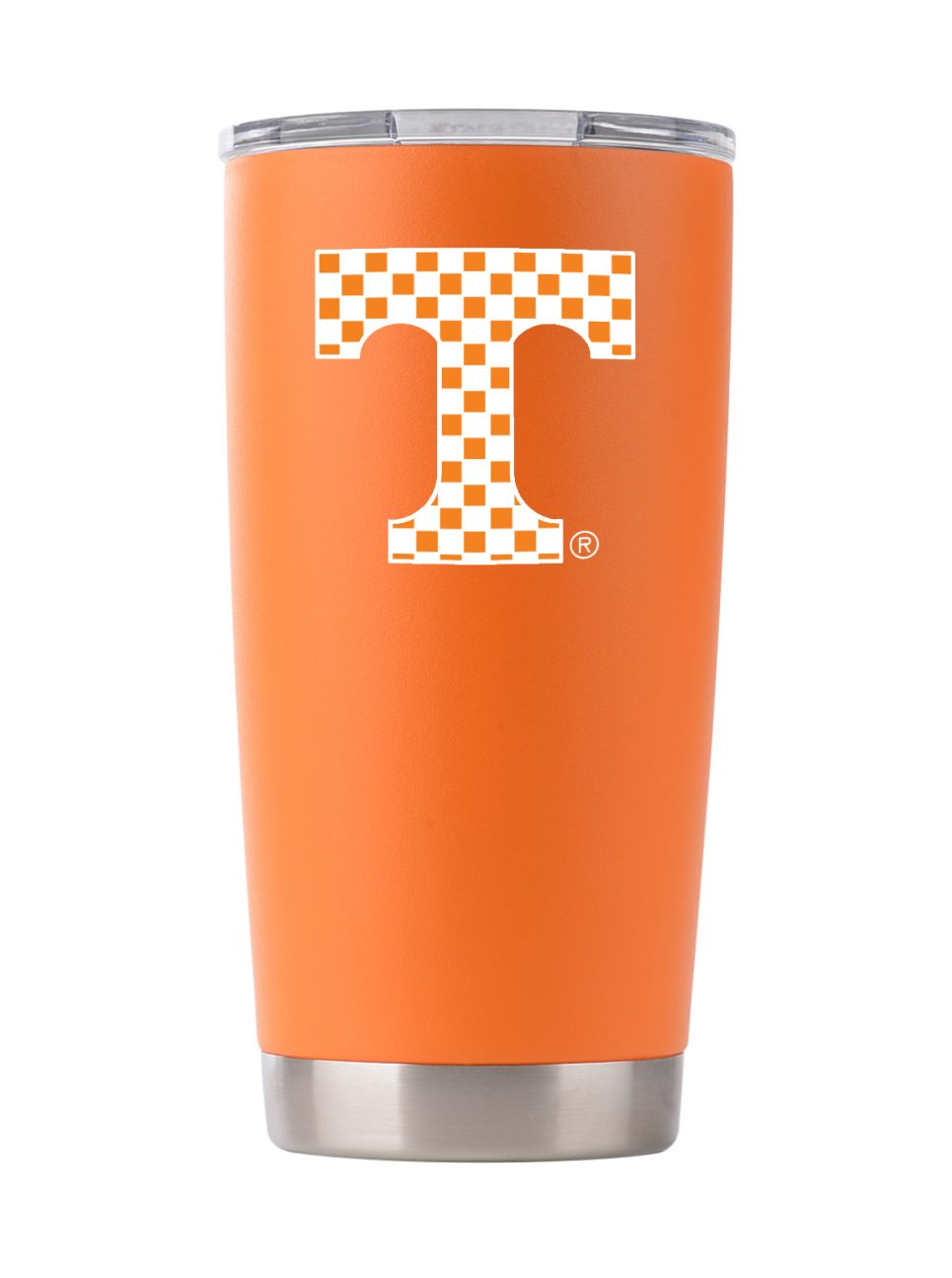 TN checker 20 oz Orange Powder Coat Stainless Steel Tumbler