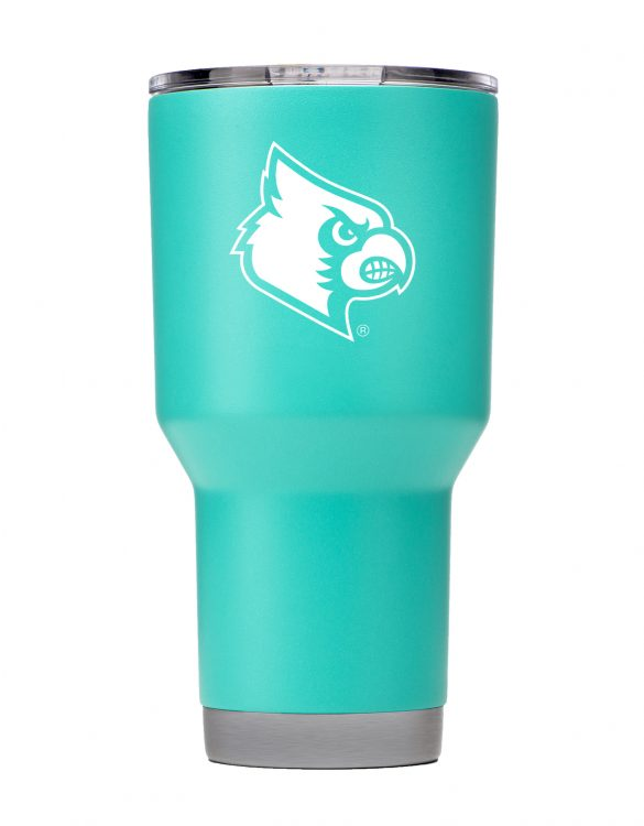 Louisville 30oz Teal Powder Coated Tumbler