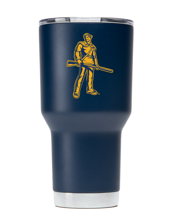 WVU 30 oz Navy Stainless Steel Tumbler