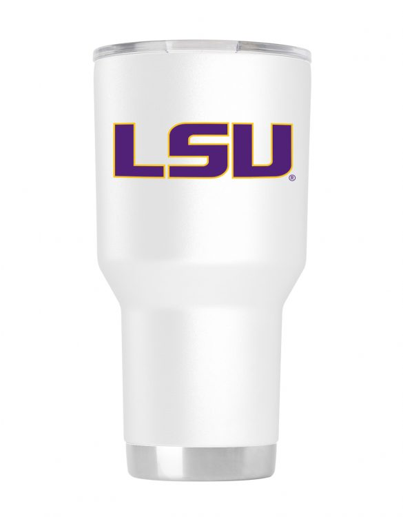 LSU Tigers 30 oz White Tumbler