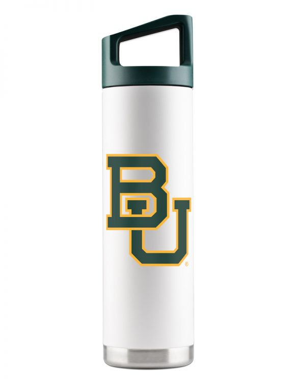 Baylor Bears 22 oz White Bottle