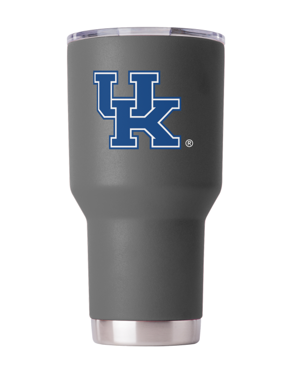 Kentucky 30oz Powder Coated Gray Tumbler