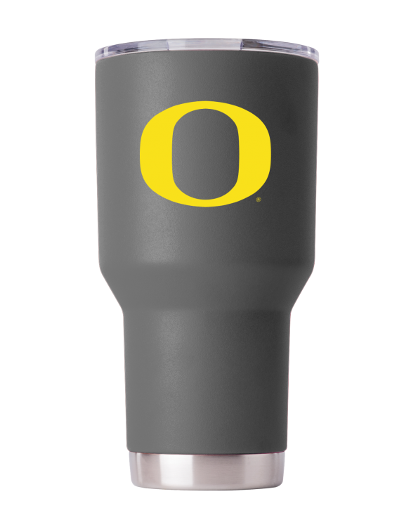 Oregon Ducks 30 oz Gray Tumbler