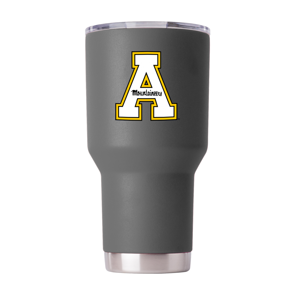 Appalachian State 30oz Gray Powder Coat Stainless Steel Tumbler