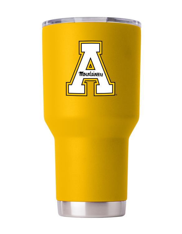Appalachian State 30oz Yellow Powder Coat Stainless Steel Tumbler