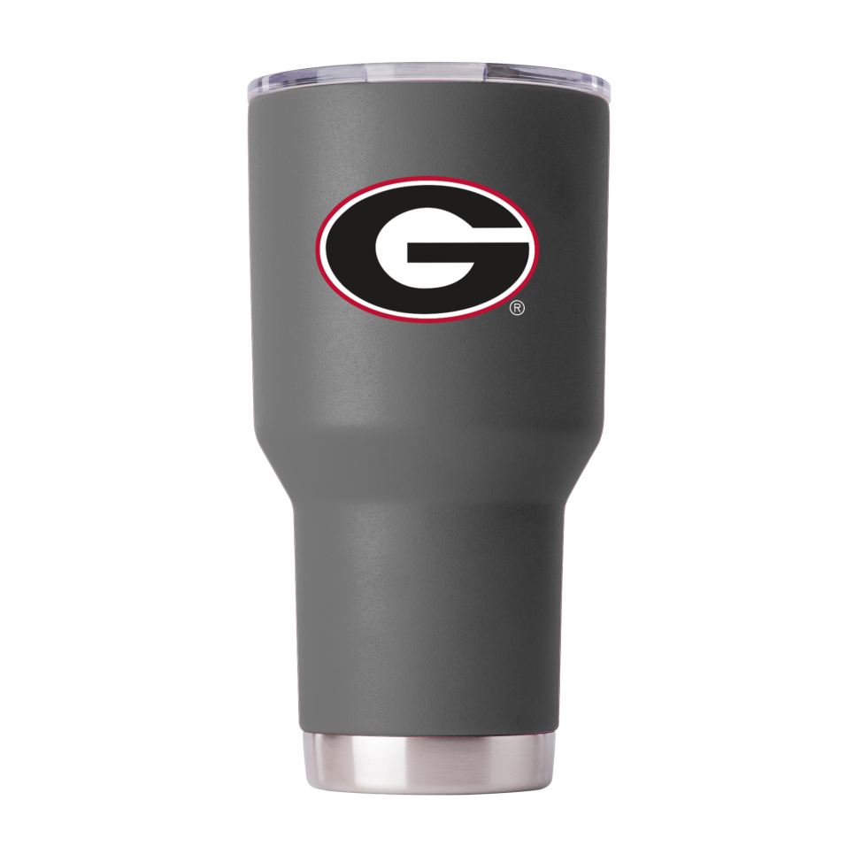 Georgia Bulldogs 30 oz Powder Coated Gray Tumbler