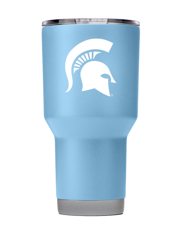 Michigan State 30 oz Powder Coated Seaside Blue Tumbler