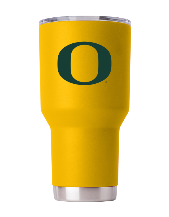 Oregon Ducks 30oz Yellow Powder Coated Tumbler