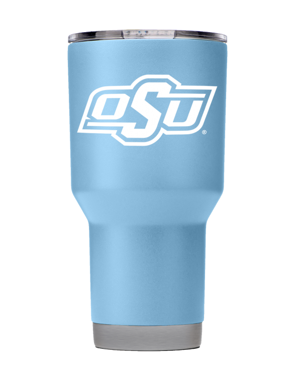 OSU 30 oz Seaside Blue Powder Coat Stainless Steel Tumbler