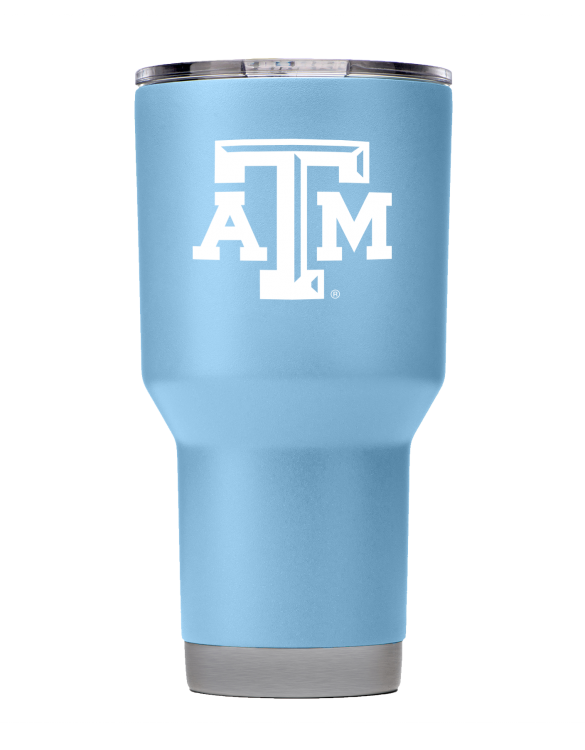 Texas A&M 30 oz Seaside Blue Powder Coat Stainless Steel Tumbler