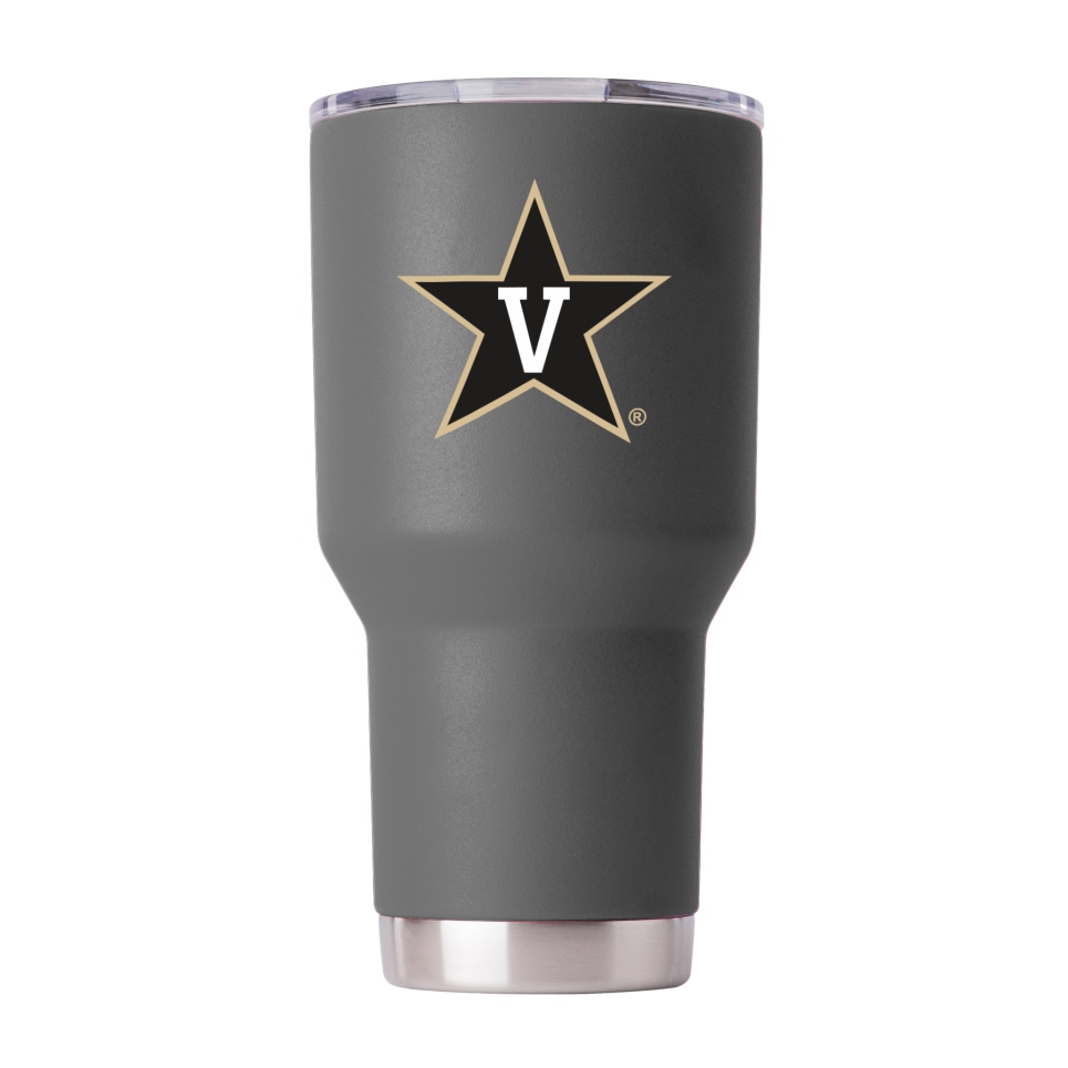Vanderbilt 30 oz Gray Powder Coat Stainless Steel Tumbler