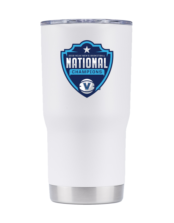 Villanova 20 oz White tumbler