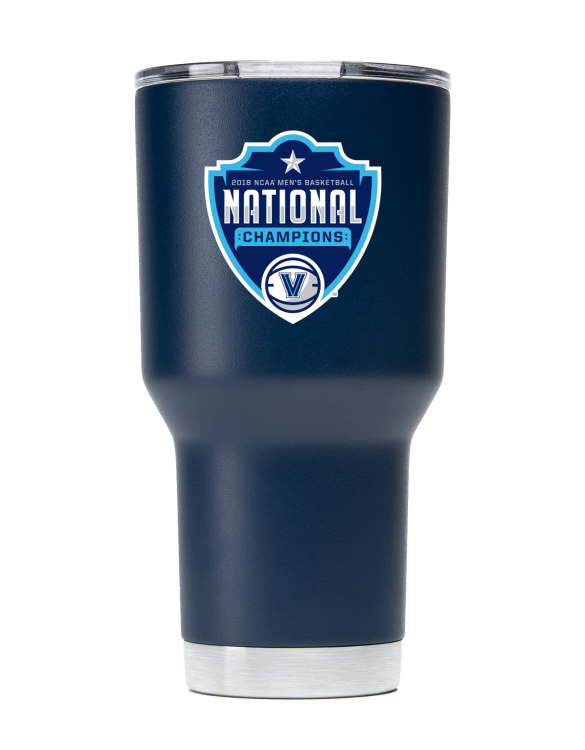 Villanova 30 oz Navy tumbler