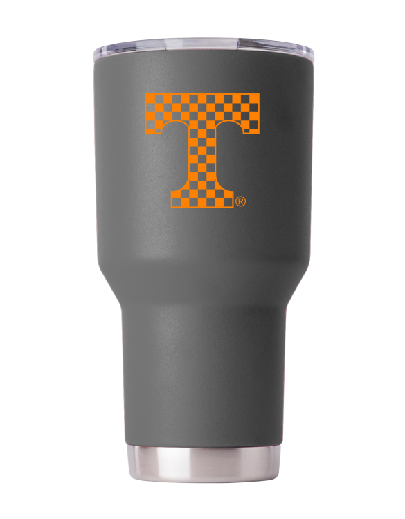 Tennessee Vols 30 oz Gray Checkerboard T