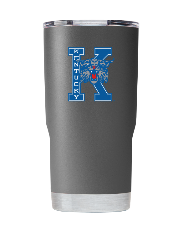 "Kentucky 20 oz Vault ""K-Cat"" Gray Tumbler"