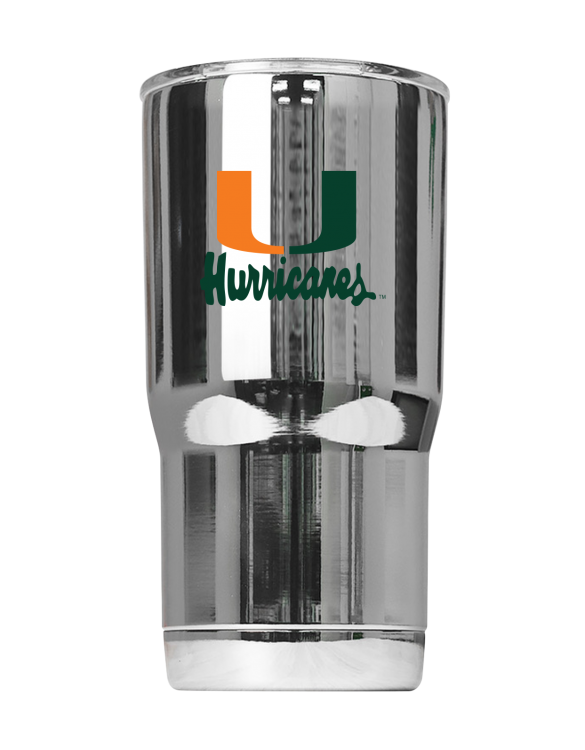 "Miami Hurricanes Vault ""U"" Chrome Tumbler"