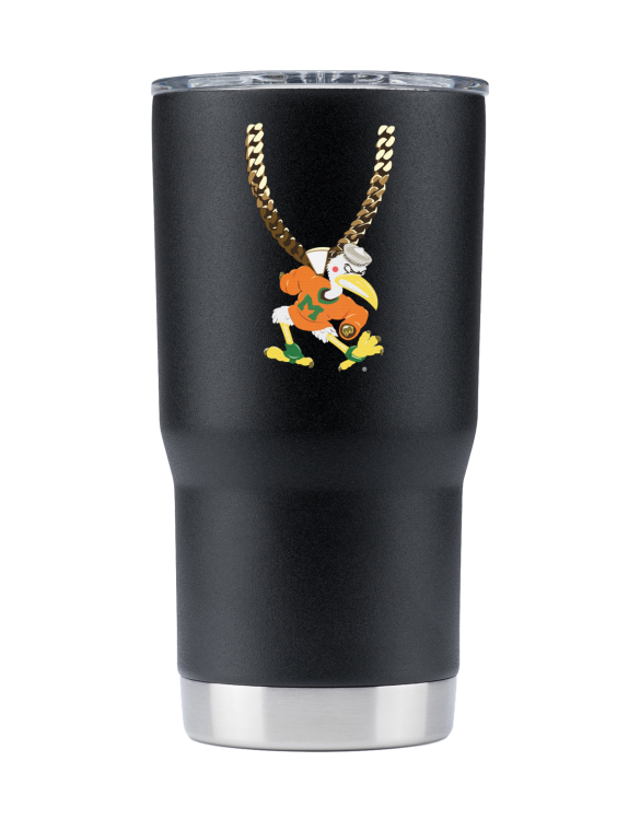 Miami 20 oz Black TO Chain tumbler