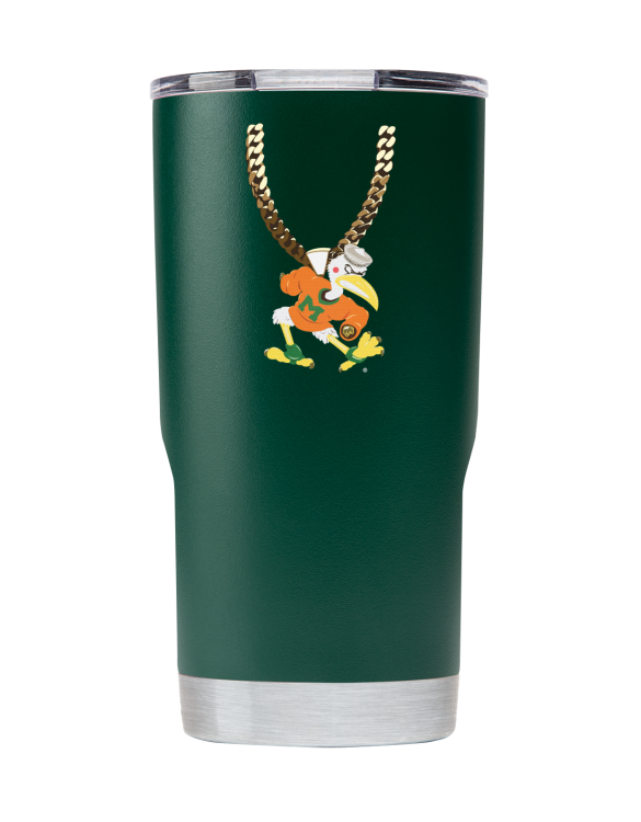 Miami 20 oz Green TO Chain tumbler