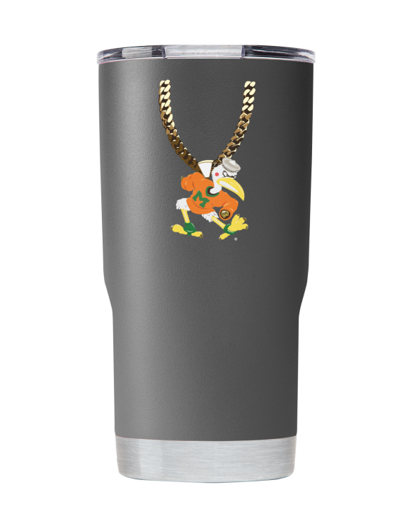 Miami 20 oz Gray TO Chain tumbler