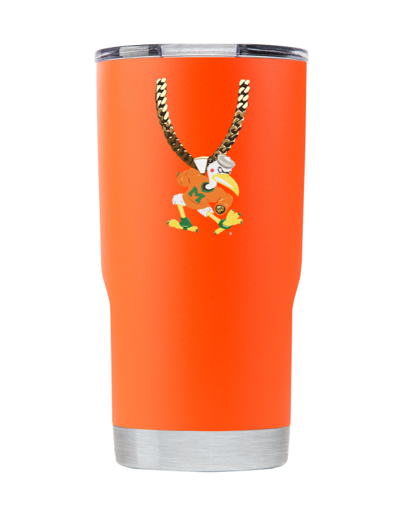 Miami 20 oz Orange TO Chain tumbler