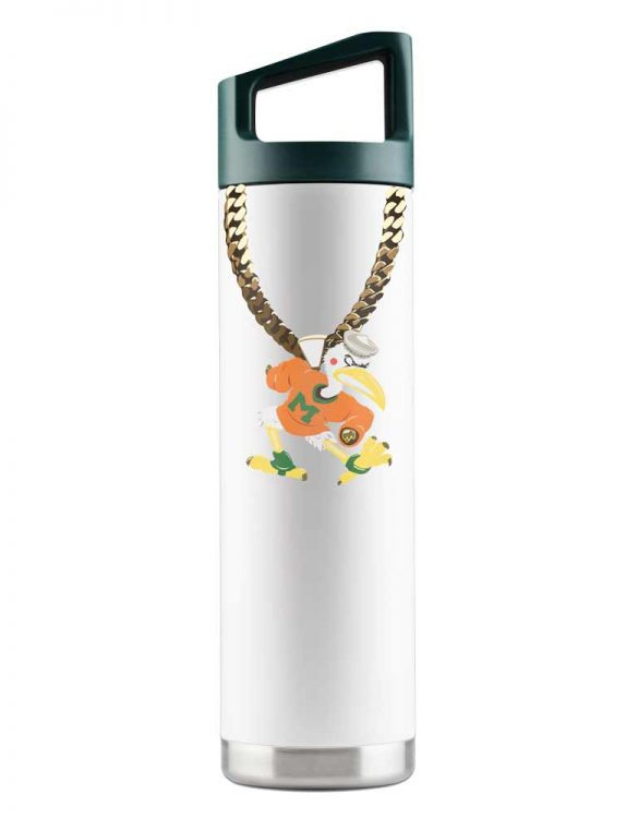 Miami 22 oz White TO Chain Bottle