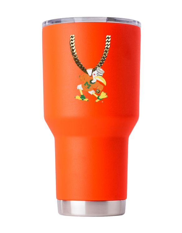 Miami 30 oz Orange TO Chain tumbler