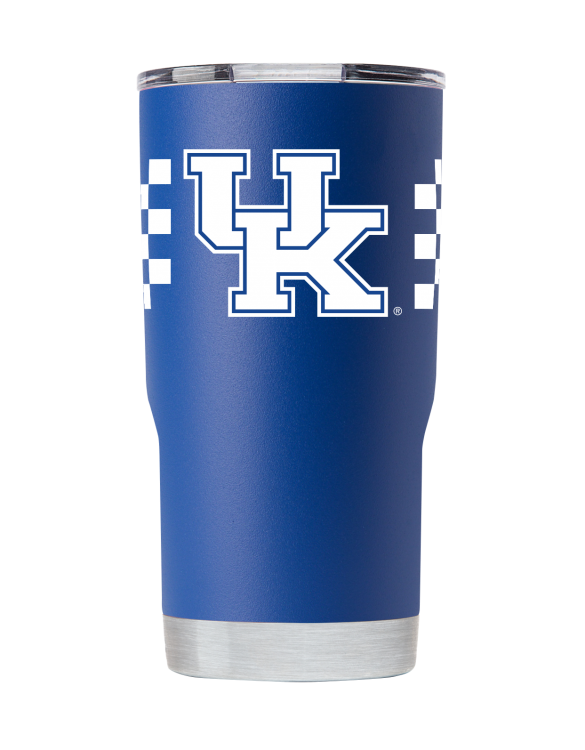 "Kentucky 20 oz ""checkerboard"" blue 20 oz front"