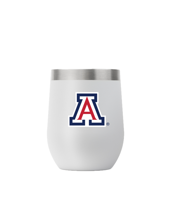 Arizona 12 oz stemless light gray tumbler
